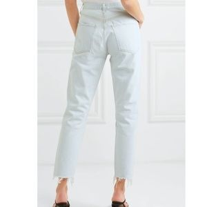 Agolde Jamie distressed cropped high-rise jeans